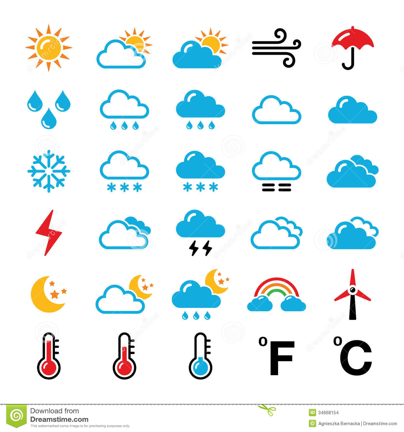 Similiar Weather Forecast Symbols Keywords