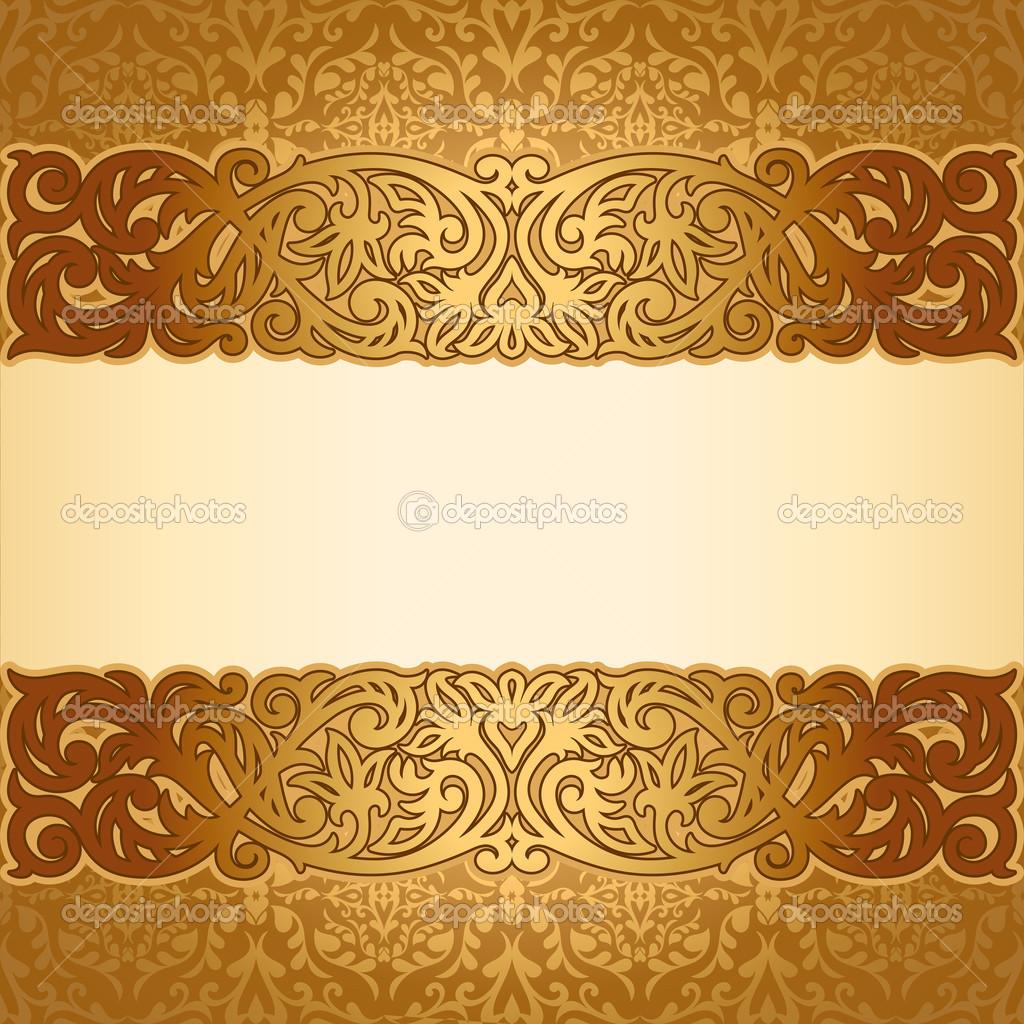 11 gold vintage border designs images vintage gold