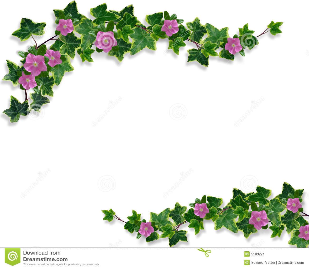 Simple flower designs border