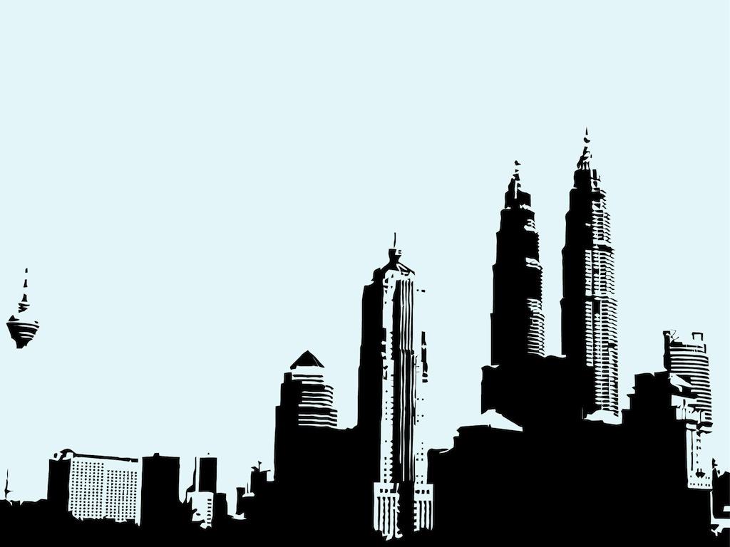 similiar gotham skyline silhouette keywords
